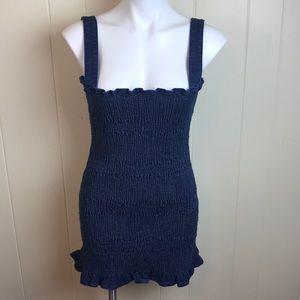 Urban Outfitters Elastic Denim Wiggle Dress